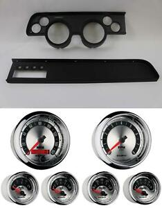 67 68 Cougar W ac Black Dash Carrier W Auto Meter American Muscle Gauges