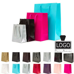 Luxury Matt Paper Gift carrier Bags With Rope Handles