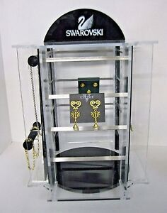 Swarovski Acrylic Jewelry Store Display Necklaces Earrings Bracelets