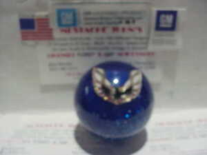 Pontiac Firebird White Logo Gm Licensed Custom Shift Knob blue Glitter