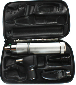 Welch Allyn Otoscope Opthalmoscope 3 5v Diagnostic Set With Handle And Case