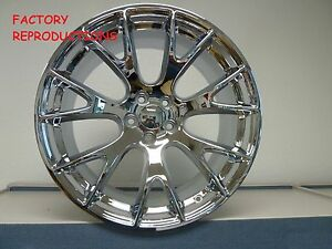 20 Staggered Hellcat Style Wheels Chrome Challenger 300c Charger Magnum Rwd