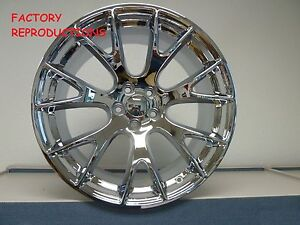 4 20 Staggered Hellcat Style Wheels Chrome Challenger 300c Charger Magnum Rwd