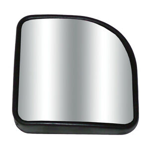 Wedge Hot Spot Blind 3 Mirror Convex Glass W Stick On Black For Car Truck