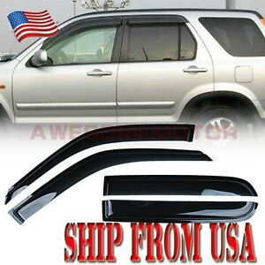 Smoke Window Side Vent Visor Sun Rain Guard Front Rear For 1997 2001 Honda Crv