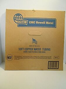 Cmc Howell Metal Type L Soft Copper Tubing 1 4 inch Id X 60 ft New In Box