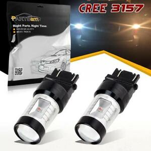 2x 3157 4114 Switchback White Amber 6 Cree Xbd Led Front Turn Signal Light Bulbs