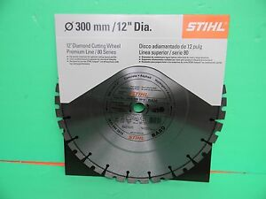 Stihl Cutoff 12 Diamond Cutting Wheel Premium Line 80 Series 0835 090 2015