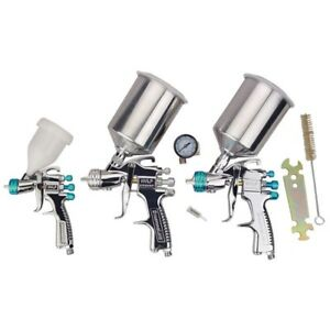 Devilbiss Startingline Hvlp Spray 3 Gun Set 3422 00