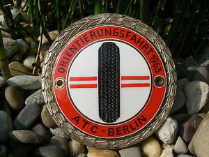 Vintage German Atc Berlin Automobile Touring Club 1963 Car Rallye Badge