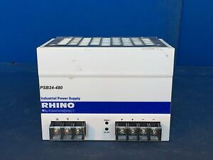 Automationdirect Rhino Psb24 480 Industrial Power Supply 100 240v 20a