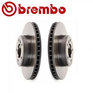 For Bmw E60 E61 525i 525xi Pair Set Of 2 Front Vented Disc Rotors Oem Brembo