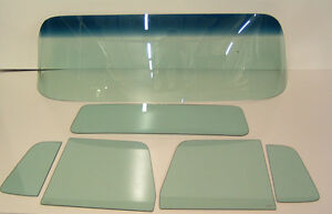 Glass 1955 1959 Chevy Gmc Pickup Windshield Vent Door Small Back Green Set