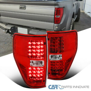 Ford 09 14 F150 F 150 Pickup Red Led Tail Lights Rear Brake Lamps Left right