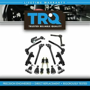 Trq 14 Piece Steering Suspension Kit Ball Joints Tie Rods Idler Arms End Links