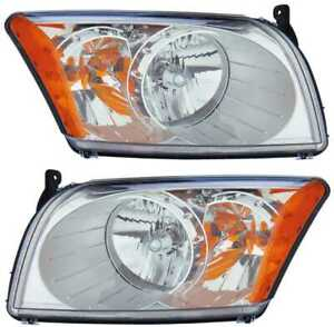 New Pair Of Left And Right Headlight Assemblies Fits 2007 2012 Dodge Caliber