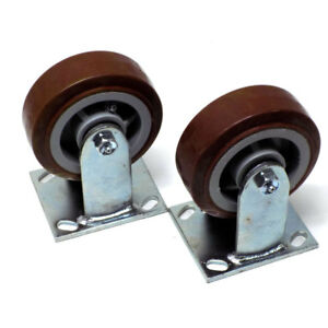lot Of 2 New Scc 5 X 2 Straight Polyurethane Caster Wheels 600lb Capacity