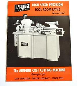 Hardinge Hlv High Speed Precision Tool Room Lathe Brochure
