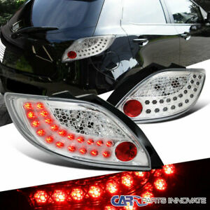 For 11 12 Mazda 2 Demio Clear Led Parking Tail Lights Rear Brake Lamps Pair