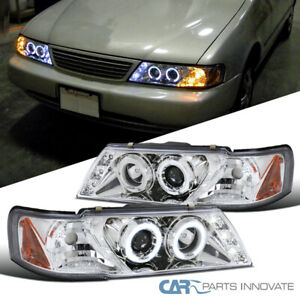 For Nissan 95 99 Sentra 200sx Clear Led Drl Halo Projector Headlights Head Lamps