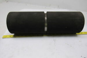 Conveyor Drive Pulley Drum Roller 17 x 5 1 2 Rubber Lagged For 1 Shaft