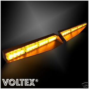 New Voltex Amber Visor Split Deck 1w Dash Led Lightbar Strobe Light Bar Kit