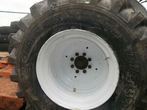 Two 15x19 5 R4 Galaxy Jubilee Ford 8 N Skidsteer Tractor Tires W 8 Hole Rims