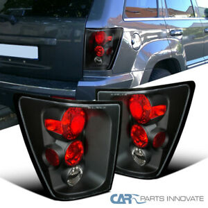Jeep 05 06 Grand Cherokee Replacement Black Tail Lights Brake Rear Parking Lamps