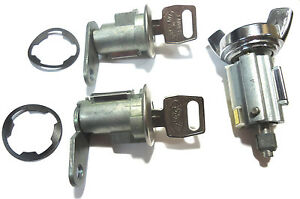 Lincoln Ignition Switch Lock Cylinder Pair 2 Door Lock Cylinder W 2 Logo Keys