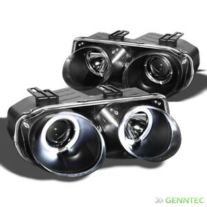 For 1998 2001 Acura Integra Twin Halo Projector Black Headlights Head Lights