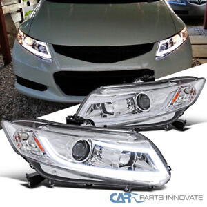 For 12 15 Honda Civic 2 4dr Coupe Sedan Clear Projector Headlights led Drl Bar