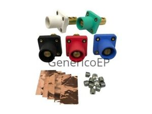 Camlok Panel Mount Male Set 5 Green White Black Red Blue Cls40mrb abcde Set Scre