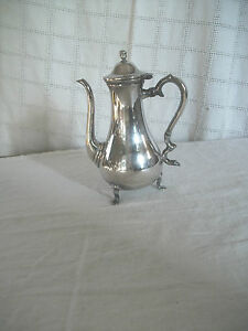 International Silver Footed Coffee Tea Pot 2430