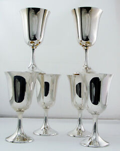 Water Goblets By Manchester Sterling Silver No 808 No Mono