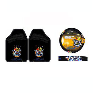 New 3pc Set Ed Hardy King Bulldog Car Truck Steering Wheel Cover