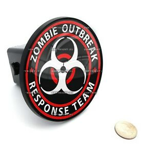 2 Tow Hitch Receiver Cover Insert Plug For Most Truck Suv Zombie Outbreak