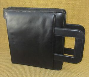 Classic 1 5 Rings Black Leather Franklin Covey kimball Planner binder Handles