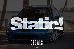 Static Decal Sticker Illest Lowered Jdm Kdm Stancenation Hellaflush