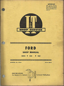 I t Ford Shop Manual Series 8000 And 9000