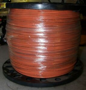 New Cerrowire 2500ft 12 19 Orange Stranded Thhn Wire 600 Volt 112 3606m