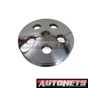 Chrome Aluminum Type 2 Ii Power Steering Pump Pulley Swp Sbc Small Block Chevy