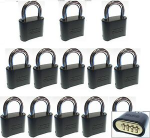 Combination Lock Set By Master 178dblk lot 13 Resettable Brass Insert Black
