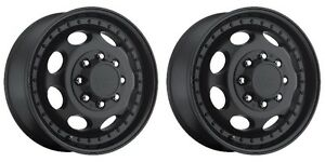 Pair 2 19 5 Vision 181 Hauler Duallie Black Wheels 19 5x6 75 8x6 5 102mm 8 Lug