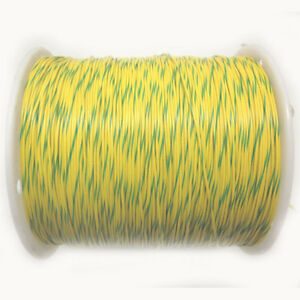 2 690 Ft Rc1c22awgyw gn Type 1007 7 Strand 22awg Yellow W Green Stripe Wire