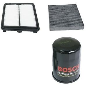 For Honda Civic Hybrid Up Kit Bosch Engine Oil Opparts Air Cabin Air Filters