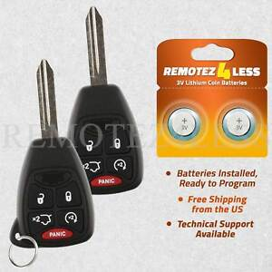 2 For 2011 2012 2013 2014 Chrysler 200 Keyless Entry Remote Car Key Fob