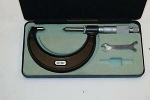 Nos Moore Wright 25 50mm Point Micrometer Made In England 01mm Graduations