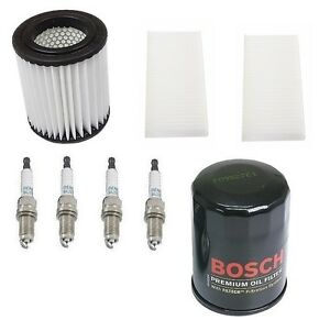 For Honda Civic 03 05 Si Kit Bosch Oil Cabin Air Micro Air Filters Denso Plugs