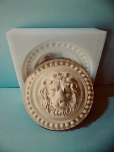 Silicone Rubber Mould Lion Round Wall Plaque Moulding  $118.36