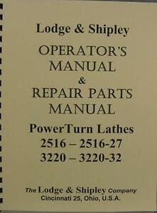 Lodge Shipley Powerturn Lathes Combo Manuals